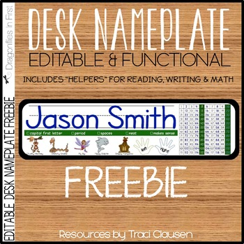 FREE Back to School -Desk Nameplates - Editable