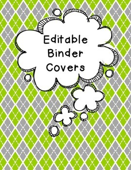 FREEBIE Editable Turquoise, Lime, and Gray Binder Covers