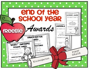 (FREEBIE) End of the School Year Awards for Kindergarten a