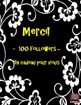 FREEBIE FOR MY FOLLOWERS - MERCI - THANK YOU!