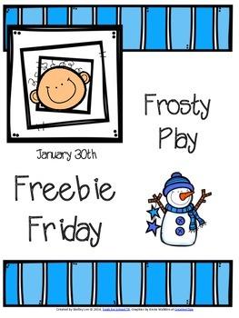 FREEBIE FRIDAY: FROSTY PLAY
