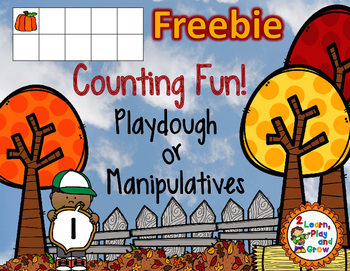 FREEBIE Fall Play Dough or Manipulative Mats with ten fram