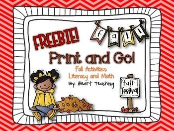 {FREEBIE} Fall Print and Go! (NO PREP Printables)