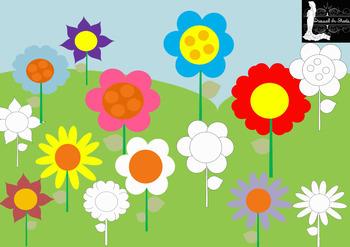 FREEBIE - Flower Bloom Clip Art