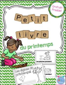 FREEBIE French Spring Emergent reader mini-books/Les petit