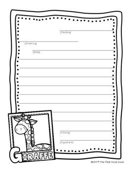 FREEBIE Friendly Letter Writing Sample {Zoo Animals ~ Gira
