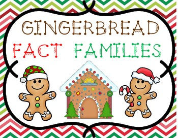 FREEBIE!  Gingerbread Fact Families Sorting Addition Subtr