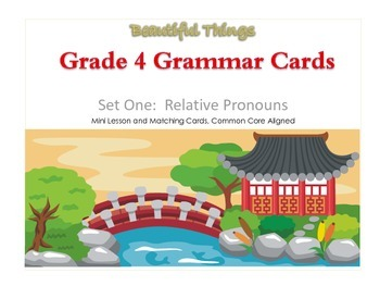FREEBIE - Grade 4 Grammar Mini Lesson and Matching Cards,