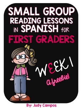 FREEBIE Guided Reading Lessons in Spanish for First Grade