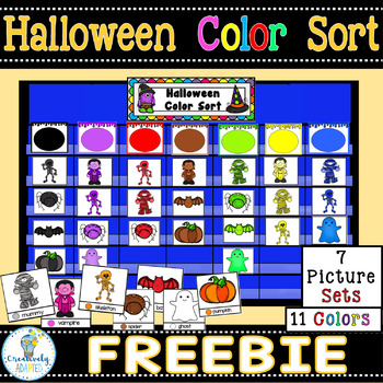 FREEBIE:HALLOWEEN COLOR SORT