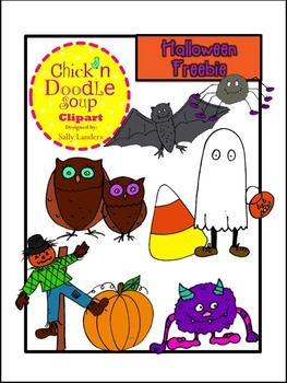 FREEBIE! Halloween Clipart {Chick'n Doodle Soup}