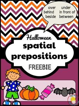 FREEBIE: Halloween Spatial Prepositions