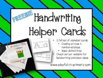 FREEBIE!  Handwriting Alphabet Cards