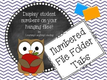 FREEBIE Hanging File Folder Numbers