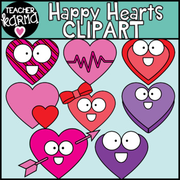 FREEBIE!  Happy Hearts Clip Art ~ Perfect for Valentine's Day