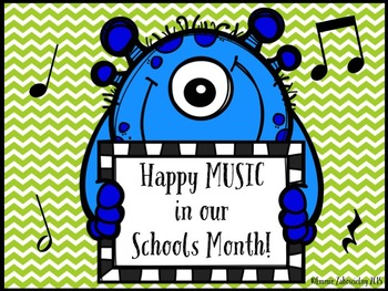 FREEBIE - Happy Music in our Schools Month Monster Poster - MIOSM