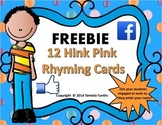 FREEBIE! Hink Pink Challenge Task Cards Grades 3-5 (Facebo