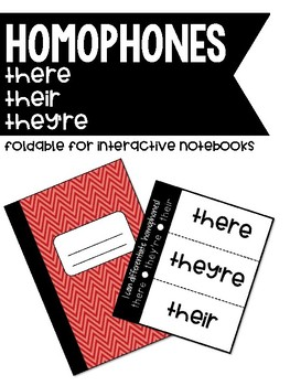 FREEBIE! Homophones - They're, Their, &There Foldable for