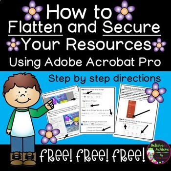 FREEBIE - How to Flatten and Secure Documents in Adobe Acr