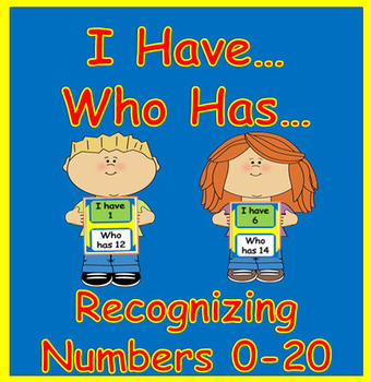 #hellosummer Recognizing Numbers 0-20   I Have...Who Has...
