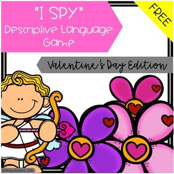 "{FREEBIE!!} ""I Spy"" Descriptive Language Game - Valentine'"