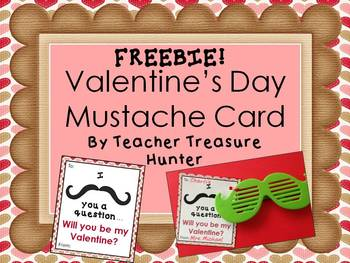 FREEBIE - I mustache you a question...Will you be my Valen