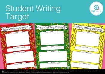 FREEBIE Individual Student Writing Goals Target for Data Walls