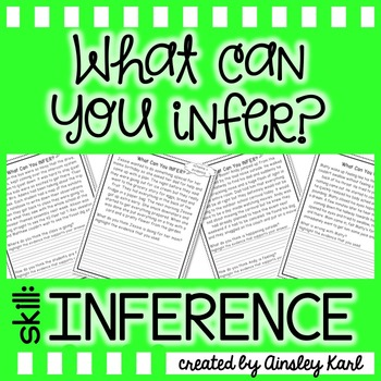 FREEBIE! Inference Passages {read, use evidence + schema a