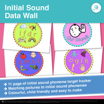 FREEBIE Initial Sound Data Wall Target Tracker Clip Chart