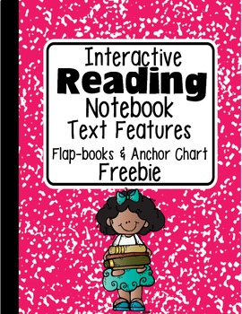 FREEBIE: Interactive Reading Notebook Text Features Flap-b