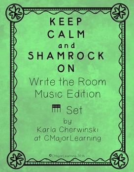 {FREEBIE} Keep Calm and Shamrock On! Write the Room Music