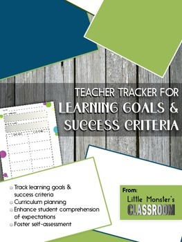 **FREEBIE** Learning Goals & Success Criteria Graphic Orga