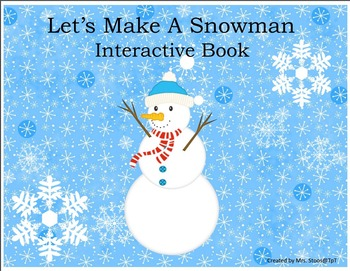 FREEBIE Let's Make a Snowman Interactive Book