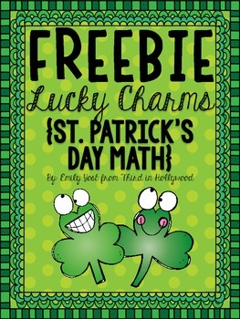 FREEBIE Lucky Charms St. Patrick's Day Math
