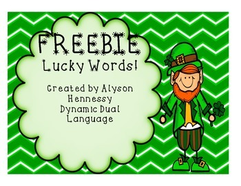 FREEBIE! Lucky Words!
