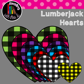 FREEBIE Lumberjack Hearts Clip Art
