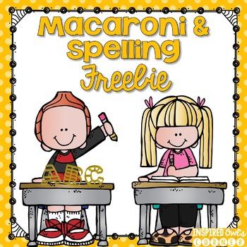 FREEBIE Macaroni and Spelling