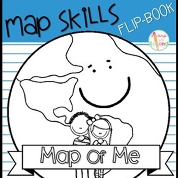 FREEBIE Map of Me Flipbook - Continent, Country, State, Ci