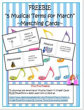 "FREEBIE ""March Musical Terms"""