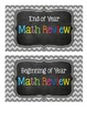 FREEBIE Math Tub Labels for any grade! (Chevron & Chalkboard)