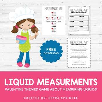FREEBIE Measure Up Valentine Themed Liquid Measuring Game