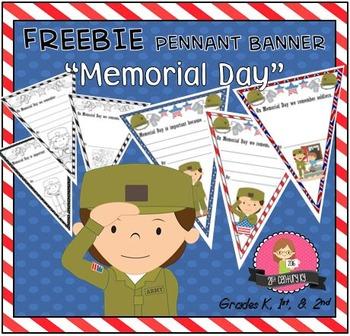 FREEBIE Memorial Day Pennant Banner Worksheet