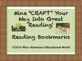 "FREEBIE! Mine""CRAFT"" Your Way Into Great Reading!"