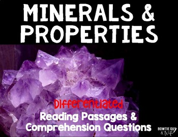 Minerals & Their Properties Differentiated Reading Passage