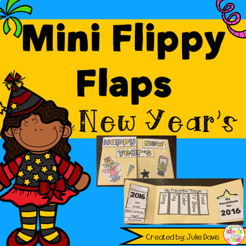 FREEBIE!!! New Year's Flippy Flaps Interactive Notebook Lapbook