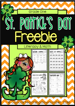 FREEBIE No Prep, Just Print! St.Patrick's Day Literacy and