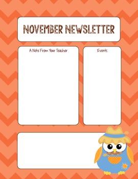 FREEBIE- November Newsletter