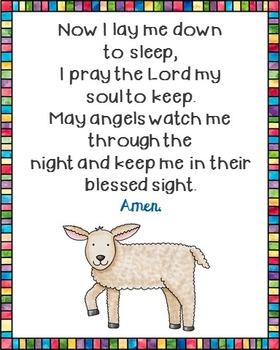 Now I Lay Me Down to Sleep Poster. Prayer, Nursery, Blessi