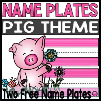 FREEBIE PIG SPRING NAME PLATE/DESK PLATE