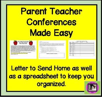 FREEBIE Parent Teacher Conferences Made Easy!